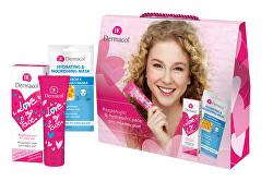 Dárková sada pro ženy Love My Face + Textilní hydratační a vyživující maska