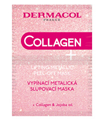 Vypínacia metalická zlupovacia maska s kolagénom Collagen Plus (Lifting Metallic Peel-Off Mask) 2 x 7,5 ml
