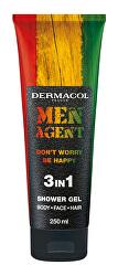 Sprchový gel pro muže Men Agent Don´t Worry Be Happy (3 in 1 Shower Gel) 250 ml