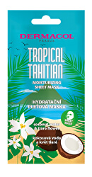 Hydratační textilní maska s kokosovou vodou a květy tiaré Tropical Tahitian (Moisturizing Sheet Mask)