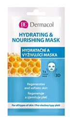 Textilné hydratačná a vyživujúca maska pre všetky typy pleti 3D (Regenerates Softens Skin) 1 ks