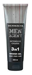 Sprchový gel pro muže 3v1 Intensive Charm Men Agent (Shower Gel) 250 ml