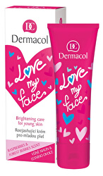 Regeneračný a rozjasňujúci krém pre mladú pleť s vôňou malín a lesného ovocia Love My Face (Brightening Cream) 50 ml