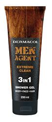 Sprchový gel pro muže 3v1 Extreme Clean Men Agent (Shower Gel) 250 ml