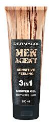Sprchový gel pro muže 3v1 Sensitive Feeling Men Agent (Shower Gel) 250 ml