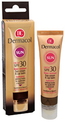 Wasserfeste Sonnencreme mit Lippenbalsam SPF 30 30 ml + 3,2 g