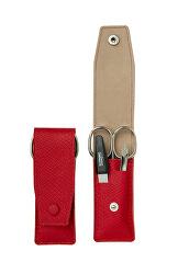 Cestovní manikúrová sada 3 dílná červená PL894