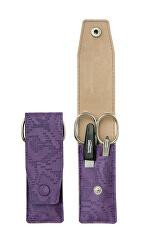 Cestovní manikúrová sada 3 dílná fialová PL893