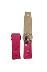 Cestovní manikúrová sada 3 dílná růžová PL892