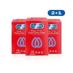 Kondomy Feel Thin Extra Lubricated  2+1