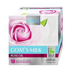 Vyživující denní pleťový krém pro citlivou a suchou pleť Roses and Goats Milk (Nourishing Day Cream) 50 ml