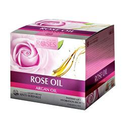 Noční pleťový krém proti vráskám Roses and Argan Oil (Anti-Wrinkle Night Cream) 30 ml