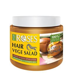 Maska pro suché a poškozené vlasy Roses Vege Salad (Hair Mask) 500 ml