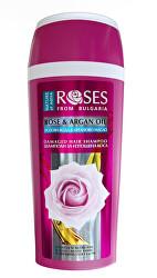 Šampon pro suché a poškozené vlasy Rose and Argan Oil (Damaged Hair Shampoo) 250 ml