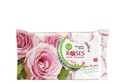 Vlhčené ubrousky na tělo a ruce Roses (Wet Wipes) 15 ks