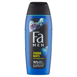 Sprchový gel s guaranou 2v1 pro muže Ipanema Nights (Body & Hair Shower Gel) 400 ml