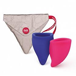 Menstruační kalíšky Fun Cup Explore Kit (2 ks)