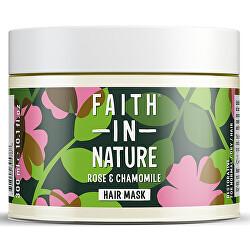 Regenerační přírodní maska pro normální a suché vlasy Růže a heřmánek (Hair Mask) 300 ml
