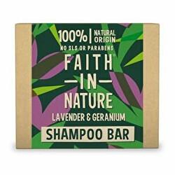 Tuhý šampon Levandule a pelargonie (Shampoo Bar) 85 g