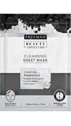 Čistiaca látková maska Aktívne uhlie a probiotiká Beauty Infusion ( Cleansing Sheet Mask) 25 ml