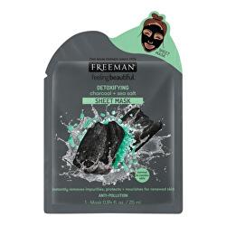 Detoxikačná látková maska Aktívne uhlie a morská soľ (Detoxifying Sheer Mask) 25 ml