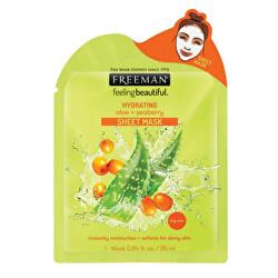 Hydratačná látková maska Aloe vera a rakytník (Hydrating Sheet Mask) 25 ml