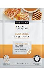 Hydratační látková maska Manukový med a kolagen Beauty Infusion (Hydrating Sheet Mask) 25 ml