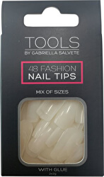 Nehtové tipy 48 ks a Lepidlo na nehty 2 x 2 g Nail Tips With Glue