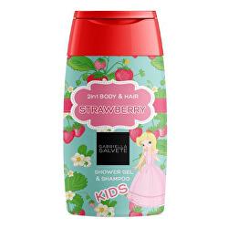 Sprchový gél pre deti 2 v 1 Strawberry (Shower Gel Kids 2in1 Body & Hair ) 300 ml