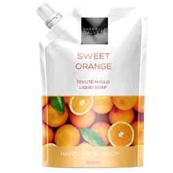 Folyékony szappan Sweet Orange - utántöltő  (Refill Hand Face Body Liquid Soap) 500 ml