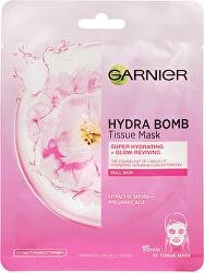 Hydratační textilní maska na oživení jasu Sakura Skin Naturals Hydra Bomb (Tissue Mask) 28 g