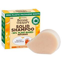 Șampon solid reînnoitor pentru părul foarte deteriorat Botanic Therapy (Honey & Beeswax Solid Shampoo) 60 g