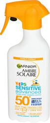 Ochranný krém proti UVB, UVA a dlouhovlnnému UVA SPF 50+ Ambre Solaire Kids Sensitive Advanced 300 ml