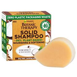 Șampon solid nutritiv și de înmuiere pentru părul uscat  Botanic Therapy (Coconut & Macadamia Solid Shampoo) 60 g