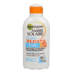 Opalovací mléko pro děti Ambre Solaire Resisto Kids SPF 50+ (Very High Protection Moisturising Lotion) 200 ml