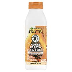 Regenerační kondicionér pro poškozené vlasy Fructis Hair Food (Papaya Repairing Conditioner) 350 ml