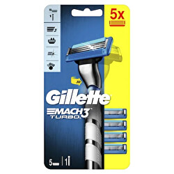 Holicí strojek Gillette Mach3 3D Turbo Barcelona + 5 hlavic