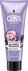 Regenerační maska pro blond vlasy Blonde Perfector (2-in-1 Purple Mask) 200 ml