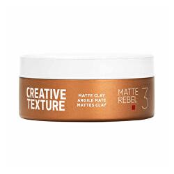 Stylingová hlína pro matný účes Matte Rebel 3 (Creative Texture Matte Clay) 75 ml