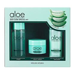 Dárková sada zklidňující pleťové péče Aloe Soothing Essence (Skin Care Special Kit)