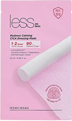 Upokojujúci plátýnková maska pre citlivú a začervenanú pleť Less on Skin (Redness Calming Cica Dressing Mask) 25 ml