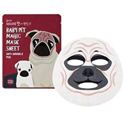 Omlazující plátýnková maska Baby Pet Magic Anti-Wrinkle Pug (Mask Sheet) 22 ml