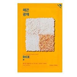 Plátýnková maska s rýží pro rozjasnění a vitalitu pleti Rice (Pure Essence Mask Sheet) 20 ml