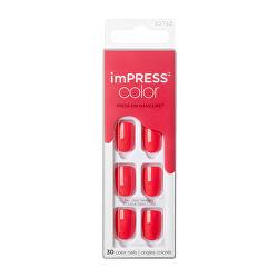 Samolepiace nechty imPRESS Color Corall Crazy 30 ks
