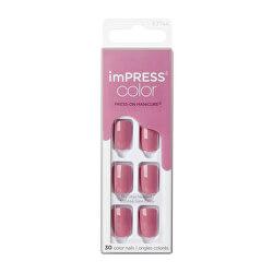Samolepící nehty imPRESS Color Petal Pink 30 ks