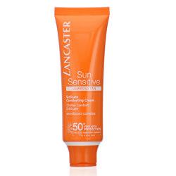 Opaľovací krém na tvár pre citlivú pleť SPF 50+ Sun Sensitive (Delicate Comforting Cream) 50 ml