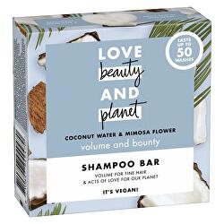 Tuhý šampon s kokosovou vodou a květy mimózy (Shampoo Bar) 90 g