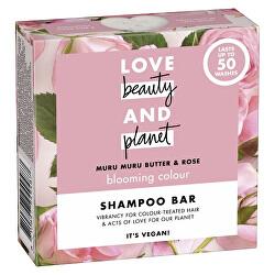 Tuhý šampon s růžovým olejem a máslem muru muru (Shampoo Bar) 90 g