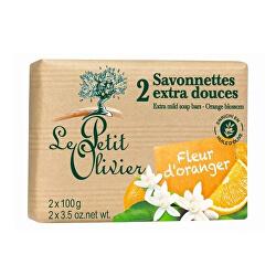 Extra jemné mýdlo Pomerančový květ (Extra Mild Soap Bars) 2 x 100 g