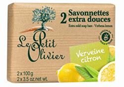 Extra jemné mýdlo Verbena a citrón 2 x 100 g